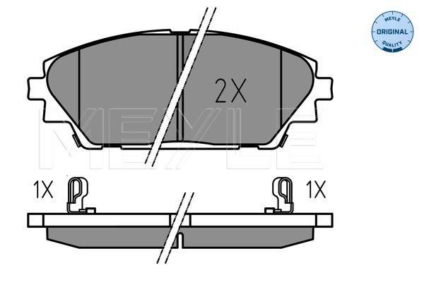 Disk brake pads MEYLE MBP1618 rating