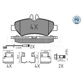 MEYLE  025 291 9019/PD Bremsbelagsatz, Scheibenbremse Breite: 137mm, Höhe: 63,1mm, Dicke/Stärke: 19mm