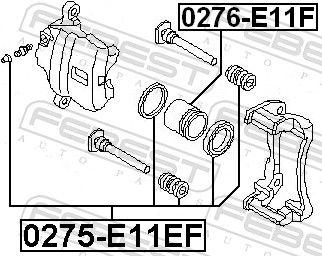 Kolben, Bremssattel FEBEST 0276-E11F Bewertung