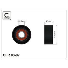 Spannrolle, Keilrippenriemen Breite: 26mm mit OEM-Nummer MD852898