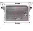 VAN WEZEL Turbo intercooler Core Dimensions: 616x410x42
