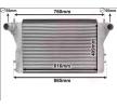 VAN WEZEL Radiatore intercooler Dim. rete rad.: 616x410x42