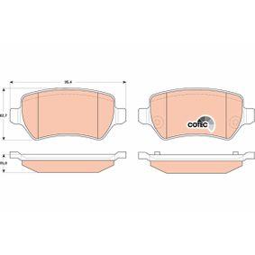 Bremsbelagsatz, Scheibenbremse GDB1831 ZAFIRA B (A05) 1.7 CDTI (M75) Bj 2013