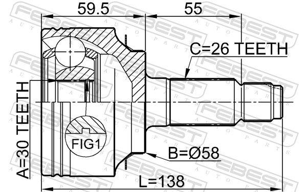 Gelenk, Antriebswelle FEBEST 0310-FD Bewertung
