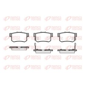 Brake Pad Set, disc brake Height: 47,5mm, Thickness: 15,4mm with OEM Number 43022- SX0-A52