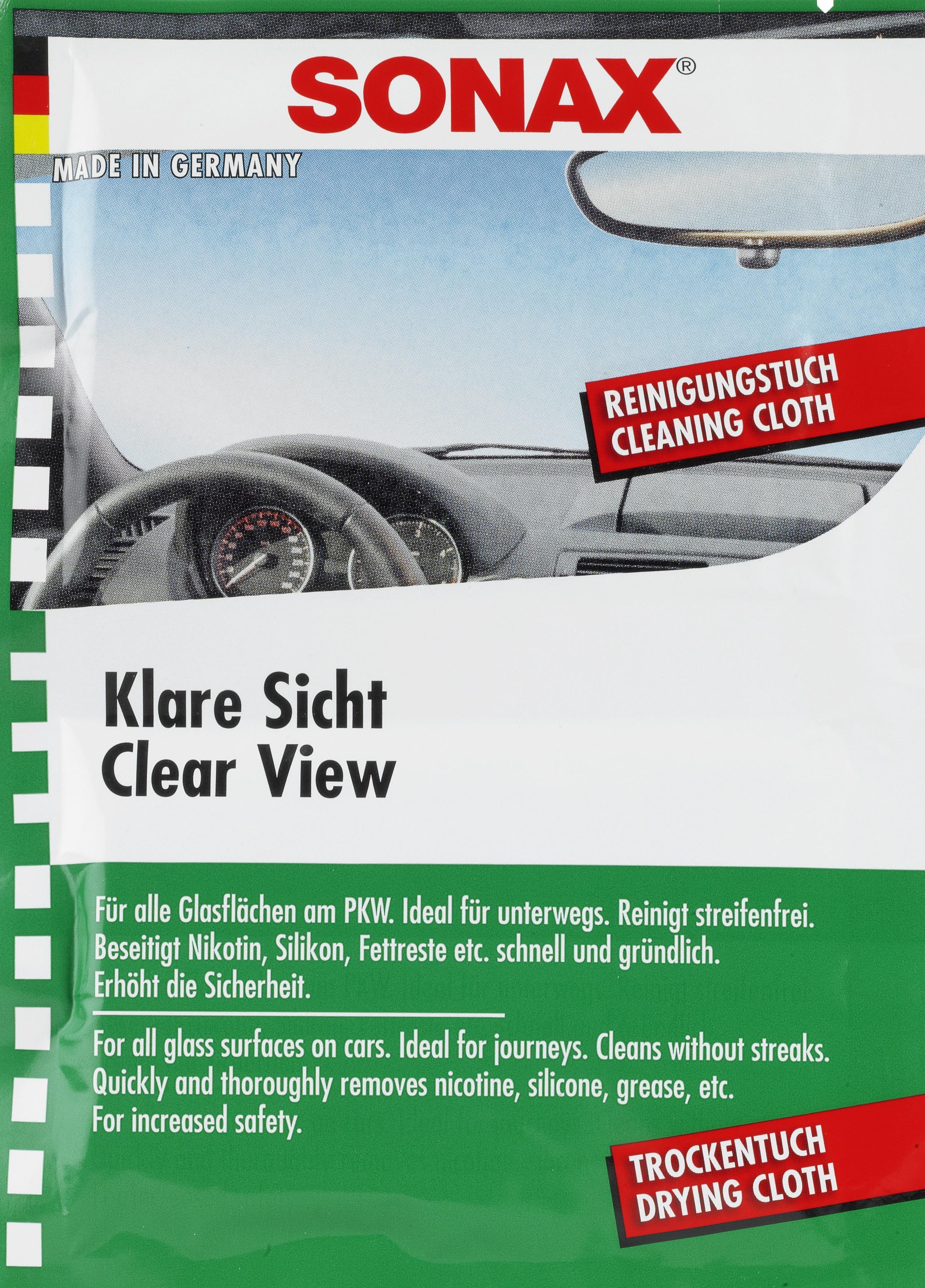 SONAX Clear View 03740000 Şerveţele pentru mâini Înaltime: 170mm, Latime: 6mm