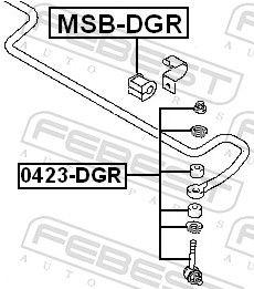 Pendelstütze FEBEST 0423-DGR Bewertung