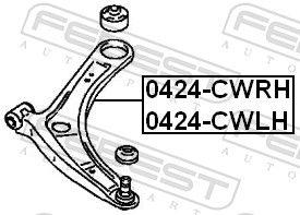 Dreieckslenker FEBEST 0424-CWLH Bewertung