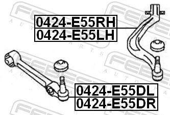 Dreieckslenker FEBEST 0424-E55DR Bewertung