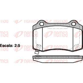 Bremsbelagsatz, Scheibenbremse Höhe: 69,3mm, Dicke/Stärke: 15,4mm mit OEM-Nummer 68003 610AB