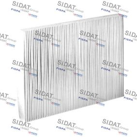 Filter, interior air Length: 281mm, Width: 207mm, Height: 25mm with OEM Number 1H0 091 800 SE