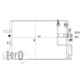 Kondensator, Klimaanlage Netzmaße: 533x344x16 mit OEM-Nummer 47 58 637