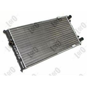 Ψυγείο, ψύξη κινητήρα Καθαρές διαστάσεις ψυγείου: 630x322 με OEM αριθμός 6K0121253A