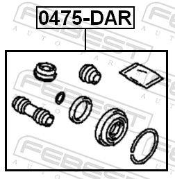 Bremssattelträger Bolzen FEBEST 0475-DAR Bewertung