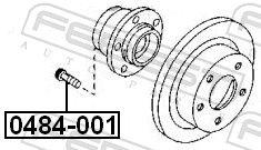 Bullone ruota FEBEST 0484-001 valutazione