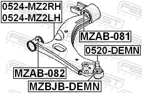 Dreieckslenker FEBEST 0524-MZ2RH Bewertung