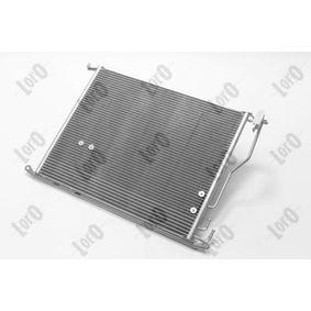 Kondensator, Klimaanlage Netzmaße: 619x494x16 mit OEM-Nummer 2205000054