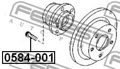 Wheel Stud FEBEST 0584-001 rating