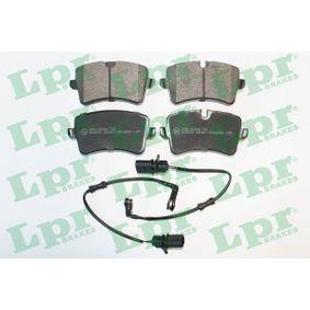 Kit de plaquettes de frein, frein à disque Largeur: 116,4mm, Hauteur 1: 58,5mm, Hauteur 2: 59,8mm, Épaisseur: 17,4mm avec OEM numéro 4H0 698 451A