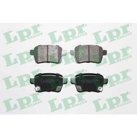 LPR  05P1827 Bremsbelagsatz, Scheibenbremse Breite: 95,85mm, Höhe 1: 47,7mm, Höhe 2: 48,3mm, Dicke/Stärke: 17,1mm