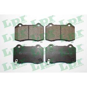 Bremsbelagsatz, Scheibenbremse Breite: 109,7mm, Höhe: 69,3mm, Dicke/Stärke: 15,4mm mit OEM-Nummer 5174327AB