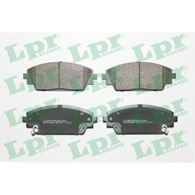 Brake Pad Set, disc brake Width: 141,8mm, Height: 55,8mm, Thickness: 15,8mm with OEM Number BHY1-33-28ZA9C