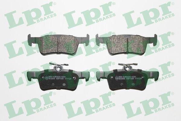LPR  05P1930 Bremsbelagsatz, Scheibenbremse Breite: 123mm, Höhe 1: 41,2mm, Höhe 2: 46,2mm, Dicke/Stärke: 16,1mm