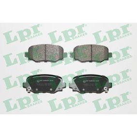 LPR  05P1954 Bremsbelagsatz, Scheibenbremse Breite: 115,5mm, Höhe: 49,5mm, Dicke/Stärke: 17,2mm