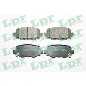 LPR  05P1955 Bremsbelagsatz, Scheibenbremse Breite: 115,7mm, Höhe: 49,5mm, Dicke/Stärke: 17,6mm