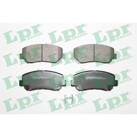 LPR  05P1957 Bremsbelagsatz, Scheibenbremse Breite: 141,8mm, Höhe: 60,9mm, Dicke/Stärke: 21,1mm
