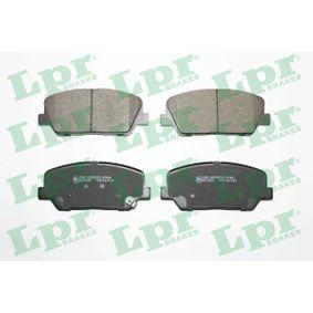 LPR  05P1960 Bremsbelagsatz, Scheibenbremse Breite: 141mm, Höhe: 60mm, Dicke/Stärke: 17,8mm