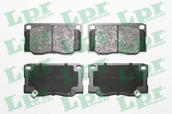LPR  05P1961 Bremsbelagsatz, Scheibenbremse Breite: 139,5mm, Höhe: 76mm, Dicke/Stärke: 18,5mm