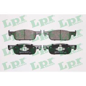 LPR  05P1963 Bremsbelagsatz, Scheibenbremse Breite: 155,1mm, Höhe: 49mm, Dicke/Stärke: 17mm