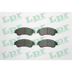 LPR  05P1967 Bremsbelagsatz, Scheibenbremse Breite: 141,8mm, Höhe: 55mm, Dicke/Stärke: 16mm