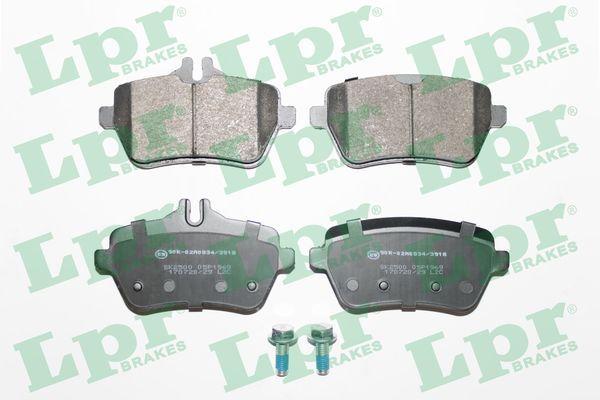 LPR  05P1969 Bremsbelagsatz, Scheibenbremse Breite: 116,2mm, Höhe 1: 54,7mm, Höhe 2: 65mm, Dicke/Stärke: 18,8mm
