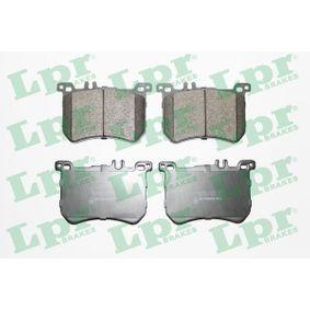 LPR  05P1972 Bremsbelagsatz, Scheibenbremse Breite: 134,7mm, Höhe: 87,5mm, Dicke/Stärke: 18mm