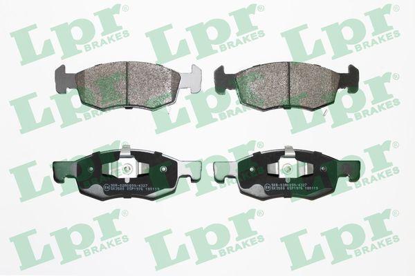 LPR  05P1976 Bremsbelagsatz, Scheibenbremse Breite: 155,3mm, Höhe: 52,5mm, Dicke/Stärke: 17,1mm