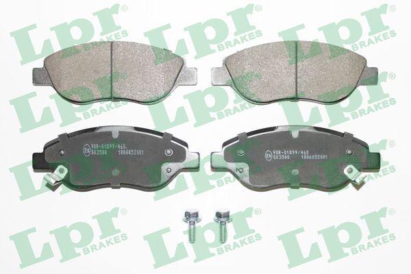 LPR  05P2001 Bremsbelagsatz, Scheibenbremse Breite: 150,9mm, Höhe: 57,4mm, Dicke/Stärke: 19,4mm