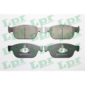 LPR  05P2004 Bremsbelagsatz, Scheibenbremse Breite 1: 181,4mm, Breite 2: 180,3mm, Höhe: 74,8mm, Dicke/Stärke: 18,4mm