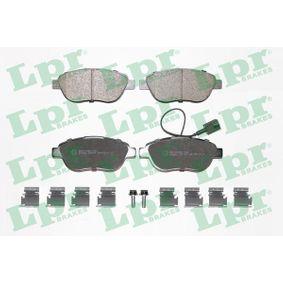 Bremsbelagsatz, Scheibenbremse Breite: 136,8mm, Höhe: 57,4mm, Dicke/Stärke: 18,4mm mit OEM-Nummer 77365623