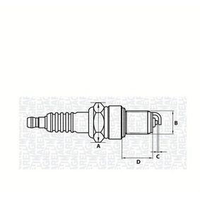 Zündkerze E.A.: 0,7mm, Gewindemaß: M14 mit OEM-Nummer 77 00 103 502