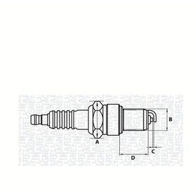 Запалителна свещ разст. м-ду електродите: 0,7мм, мярка на резбата: M14 с ОЕМ-номер 101000034AA