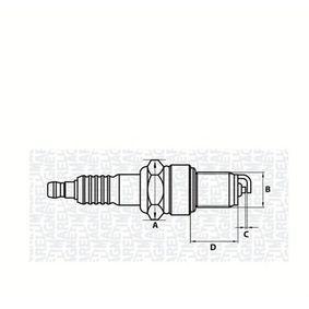 Запалителна свещ разст. м-ду електродите: 0,7мм, мярка на резбата: M14 с ОЕМ-номер 596213