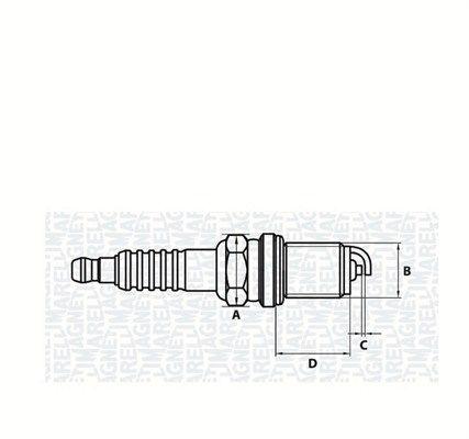 MAGNETI MARELLI  062000781304 Spark Plug Electrode Gap: 0,8mm, Thread Size: M14