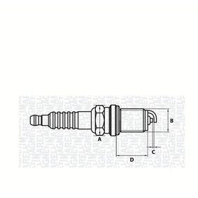 MAGNETI MARELLI  062000781304 Запалителна свещ разст. м-ду електродите: 0,8мм, мярка на резбата: M14