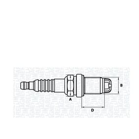 MAGNETI MARELLI  062000783304 Candela accensione Dist. interelettrod.: 1mm, Dimensioni filettatura: M14