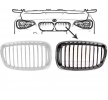 VAN WEZEL Front grill SSANGYONG Left, Black, Chrome