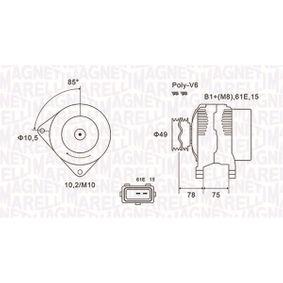 Lichtmaschine mit OEM-Nummer 1231 7501 593