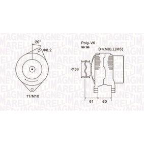 Lichtmaschine mit OEM-Nummer 500 3712 44