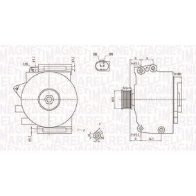 Generator mit OEM-Nummer A 014 154 07 02